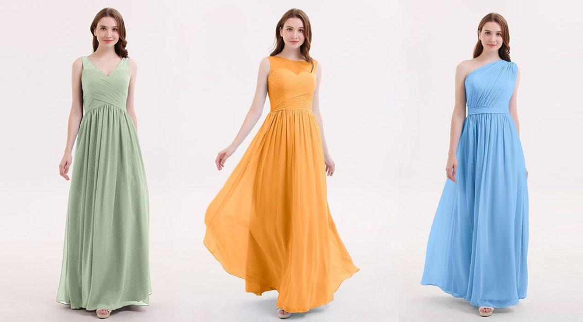 Φορέματα με χρώματα