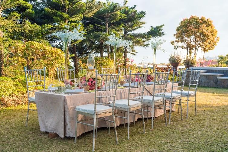 Δεξίωση γάμου σε κτήμα με κήπο