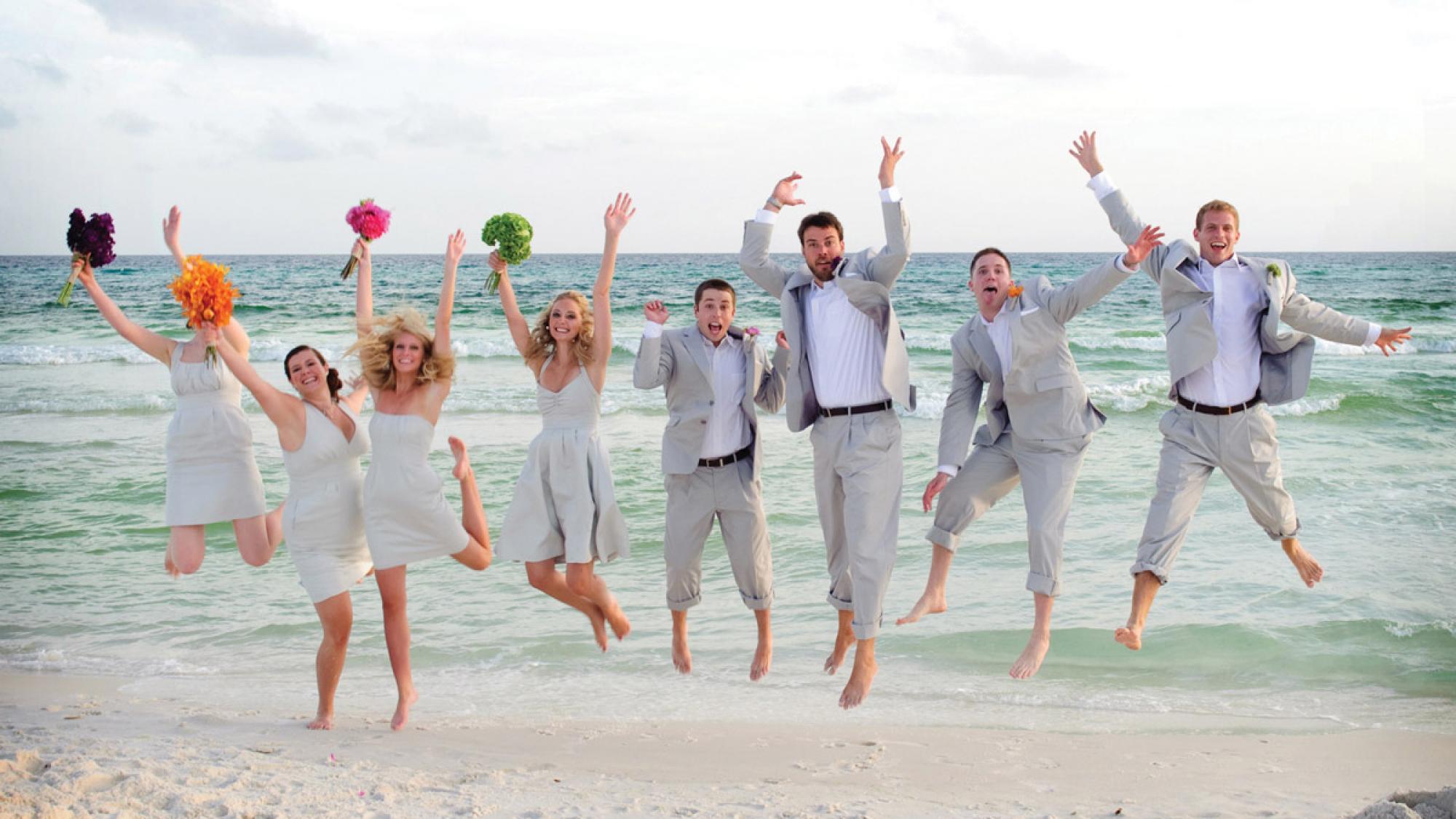 Γαμήλιο πάρτυ σε παραλία