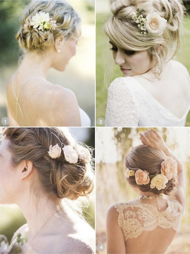 Χτενίσματα γάμου με λουλούδια
